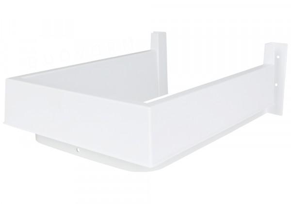 Sifonuitsparing van kunststof, wit, 251x181 mm