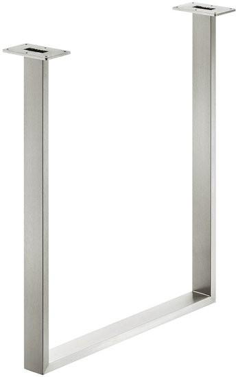 Tafelonderstel 60x20 mm, roestvast staal, gepolijst