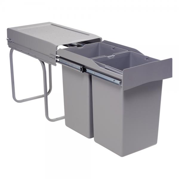 afvalbak voor keukenkast grijs
