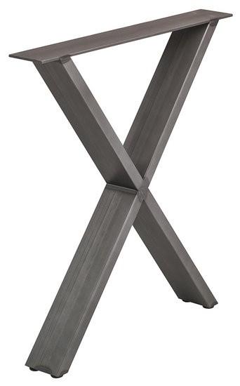 Tafelonderstel vorm X, Ruw Staal