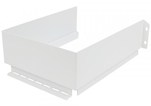 Sifonuitsparing van metaal, zijdewit, 222x167 mm, wandhoogte 63 mm