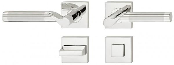 Deurkruk vierkant met WC-sluiting