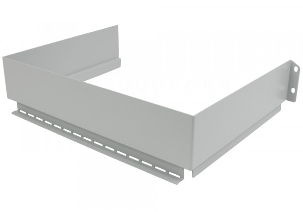 Sifonuitsparing van metaal, lichtgrijs, 225x302 mm