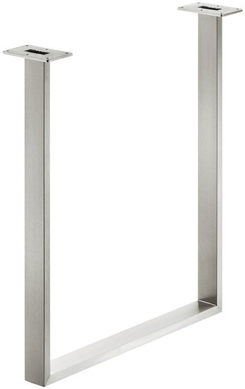 Tafelonderstel 60x20 mm, roestvast staal, geborsteld