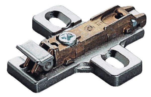 Salice montageplaat 12 mm, met spaanplaatschroeven
