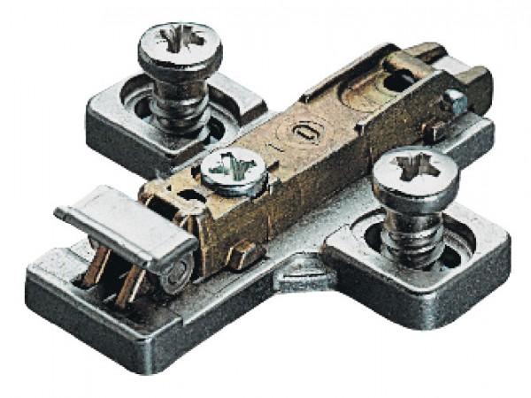 Salice montageplaat 0 mm, met voorgemonteerde euroschroeven