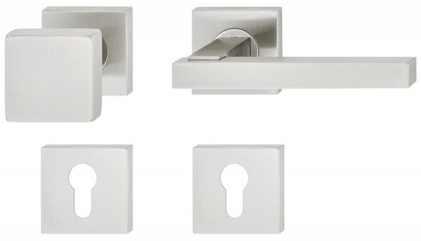 Deurkruk met deurknop, vierkant