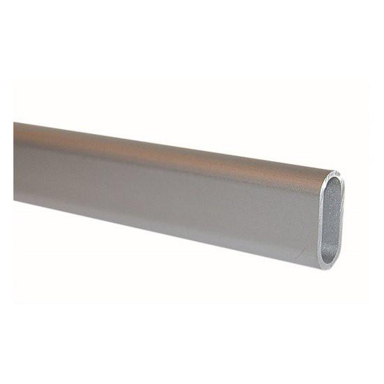 Kledingroede aluminium 1000 mm