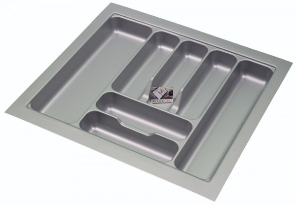 Kunststof Bestekbak Basic Series Grijs 500-550 mm