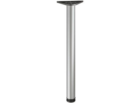 Tafelpoot 710x50 mm, wit aluminium