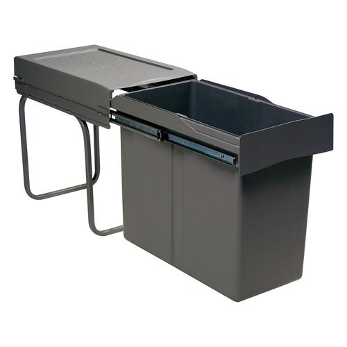 afvalbak grijs 30 liter