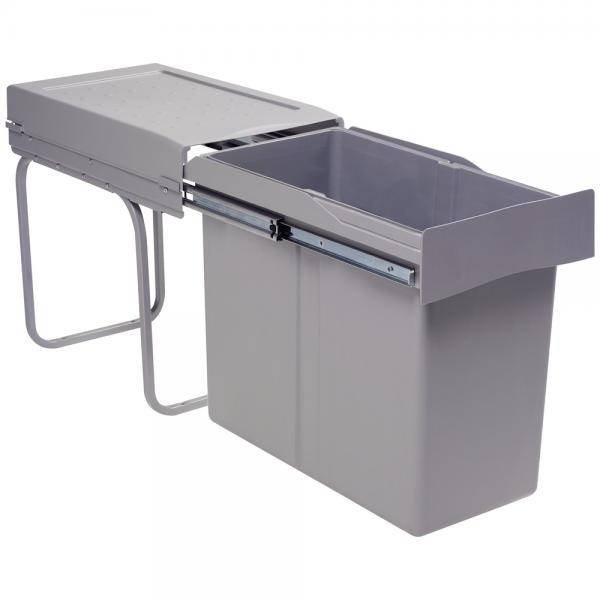afvalbak 30 liter grijs voor keukenkast