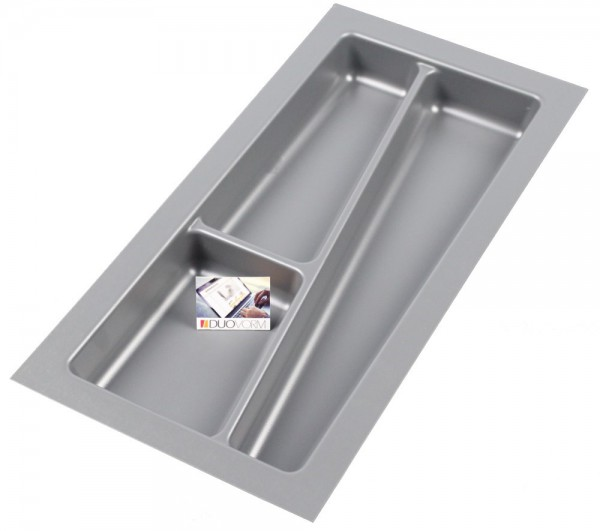 Kunststof Bestekbak Style serie Grijs 200-240 mm
