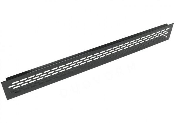 Ventilatierooster van aluminium 484x59,8 mm, zwart