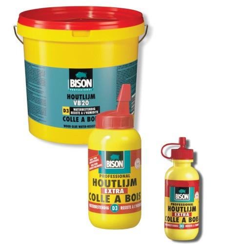Houtlijm Bison D3 waterbestendig, flacon 75 gram