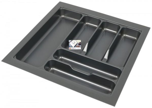 Kunststof Bestekbak Basic Series Antraciet 450-500 mm