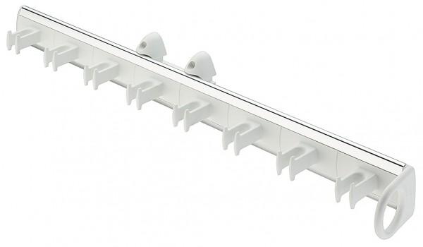 Riemhouder wit met aluminium 8 riemen