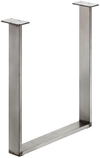 Tafelonderstel 80 x 20 mm, ruw staal, Gelakt