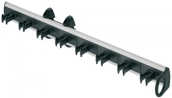 Zwart riemhouder voor 8 riemen, uittrekbaar