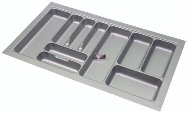 Kunststof Bestekbak Basic Series Grijs 800-850 mm