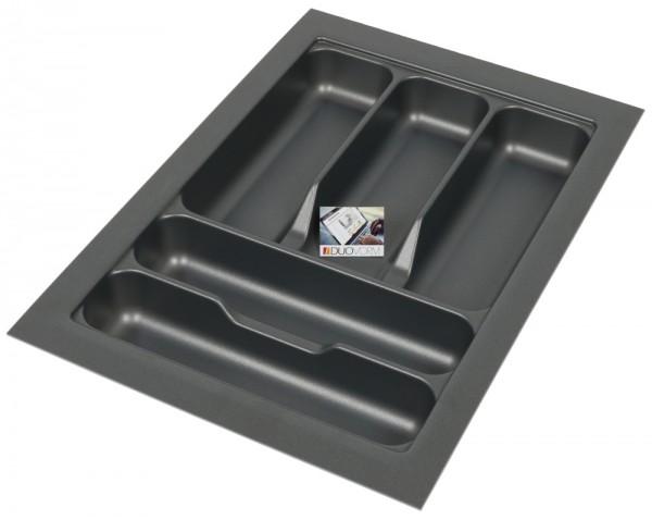 Kunststof Bestekbak Basic Series Antraciet 300-350 mm