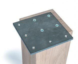 Hoekplaat 130x130 mm