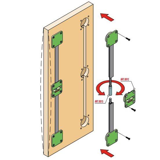 Deurspanner voor houten deuren