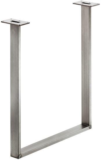 Tafelonderstel 60x20 mm,Ruw staal, Gelakt