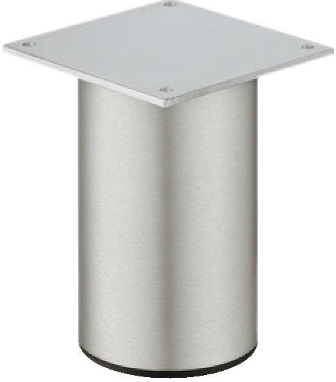 Meubelpoot aluminium met plaat