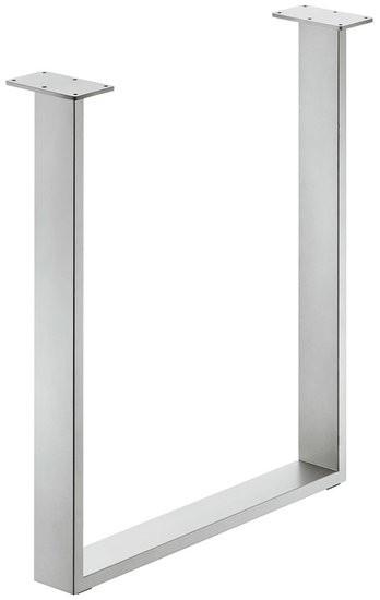 Tafelonderstel 80 x 20 mm, staal, Wit aluminium