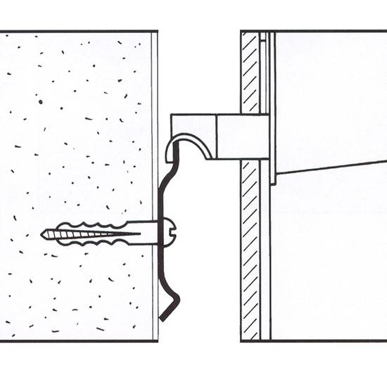 Ophangrail, 2 meter (2 x 1 meter)
