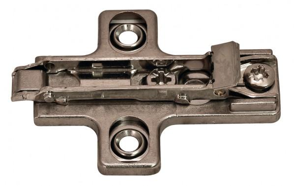 Salice montageplaat 0 mm, voor spaanplaatschroeven
